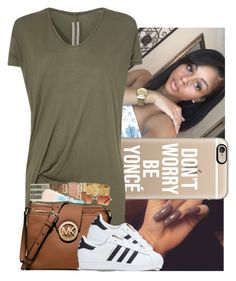 """Army Green Contest"" by trillest-k ❤ liked on Polyvore featuring Casetify, Rick Owens and adidas"