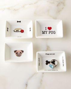 I Love My Pug Mini Trinket Tray Set