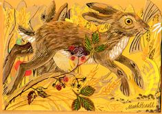 'Menagerie Hare' by Mark Hearld (greetings card) Illustrations, Children's Book Illustration, Hare Images, Rabbit Run, Some Bunny Loves You, Glasgow School Of Art, Bunny Art, Sgraffito, Wildlife Art