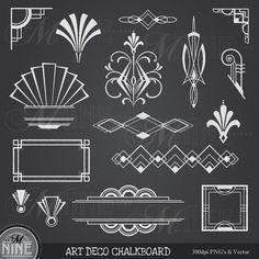 Chalkboard Clipart / CHALK Clip Art HEADERS / Design Elements ...