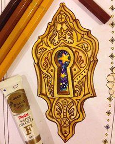 Magic keyhole #TheTimeChamber #coloringbook Daria Song