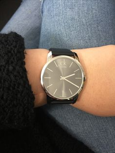 Is it time for a new watch? Who wouldn't love this gorgeous Calvin Klein watch. Dress it up or down. #calvinklein #mazzucchellis #swisswatch (calvin klein board)