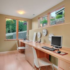 space for two work stations -- home office