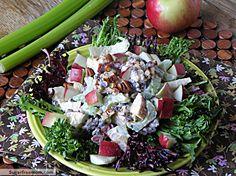 Healthier Mayo Free Waldorf Salad: sugarfreemom.com