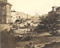 Court Square, Montgomery, AL, around 1872. From the ADAH Digital Archives : Item Viewer