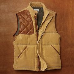 orvis quilt & corduroy vest