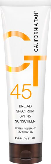 California Tan Broad Spectrum SPF 45 Sunscreen Lotion #sexysuncare