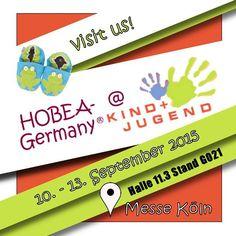 HOBEA-Germany ist als Aussteller auf der Kind+Jugend Messe in Köln mit dabei!  10.-13.09.2015  #Ankündigung #Messe #KindundJugend #Fachmesse #KindundJugend2015 #fair #cologne #köln #koelnmesse #tradeshowforkidsfirstyears #internationalemesse #trade #germany #hobea #hobeagermany #exhibitor #baby #toddler #businessfair #tradefair #kindundjugendmesse #children #babyequipment #wholesale #babyshopping #tradeshow #babyaustattung #babybedarf #fachmesse #babymesse