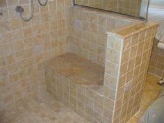 Tiling Shower And Seat - Page 3 - Tiling Bathroom Pictures, Bathroom Ideas, Shower Seat, Bench Seat, Tiling, Stone Tiles, Remodeling Ideas, Corner Bathtub, Master Bathroom
