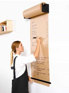 Um rolo de papel pardo perfeito para a sua check-list
