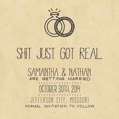 Save the Date Card - Printable - DIY Wedding, RUSTIC, Custom, Kraft Paper (Wedding Design #20) on Etsy, $12.00.  The groom loved these save the dates. So of course we got them