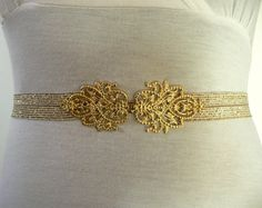 Golden Chic- Wedding or Special occasion BELT,Gold Elastic Belt,Bridesmaid gift on Etsy, $23.00