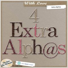 With Love, Extra Alpha #plaindigitalwrapper #pdw #digitalscrapbook #scrapbook #digital #memorykeeping #designsbyromajo