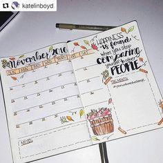 Calendário de novembro! Já fez o seu? #Repost @katelinboyd with @repostapp ・・・ November spread complete! #bulletjournal #planwithmechallenge #bujojunkies #bujo #bujolove #bujocommunity #planneraddict #leuchtturm1917 #bulletjournaling #plannerlove #bujoinspire #planneraddict #bulletjournaljunkies #weeklyspread #monthlyspread #plannercommunity #plannernerd #bulletjournalcommunity
