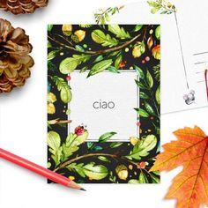 Postkaart Hallo herfst | Ciao