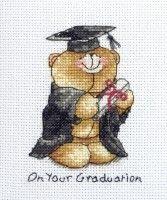 Forever Friends™ - Graduation - Code FRC219 #crossstitch #crossstitching #crossstitchkits #anchorcrossstitch