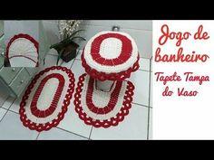 Capa da caixa acoplada Coruja Parte 4 - YouTube Home Crafts, Diy And Crafts, Crochet Videos, Bathroom Sets, Crochet Designs, Crochet Doilies, Set Cover, Crochet Earrings, Projects To Try
