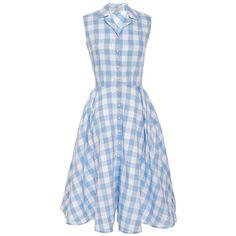 Natasha Zinko Light Blue Checked Dress