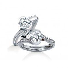 MaeVona 18K White Gold Perth Diamond Engagement Ring Wedding Day Diamonds