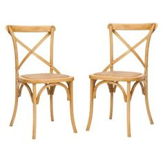 Target furniture kitchen & dining furniture dining chairs & benches      $199.99Safavieh Franklin Cross Back Chair - Natural Oak (Set of 2)