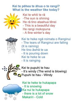 Weather Learning Stories, Learning Tools, Kids Learning, School Resources, Teaching Resources, Teaching Ideas, Maori Songs, Weather Like Today, Waitangi Day