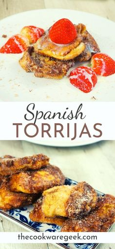 This is the best recipe for torrijas. Learn how to make this authentic Spanish holiday dessert. One of the most famous Spanish desserts: Torrijas. These are so decadent that you can't eat just one. Spanish Desserts, Spanish Cuisine, Spanish Tapas, Spanish Food Recipes, Tapas Recipes, Dessert Recipes, Authentic Spanish Recipes, Authentic Mexican Desserts, Good Food