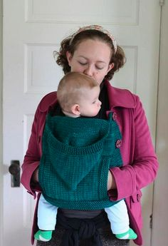 knitted sweater cover over ergo baby carrier - must find pattern