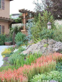vivid mixed planting at hermannshof, a public experimental garden ... - Stein Garten Design
