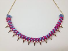 Lila & Sirena: DIY | Rope and Spikes Necklace http://lilasirena.blogspot.mx/2013/07/diy-rope-and-spikes-necklace.html #DIY #Necklace