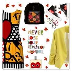 """🎀 #515 Starting Of Sweet Autumn🍁"" by wonderful-paradisaical ❤ liked on Polyvore featuring Moschino, Hiptipico, Marc Jacobs, Comme des Garçons, trending, patternmixing, topfashionproducts and PolyvoreMostStylish"