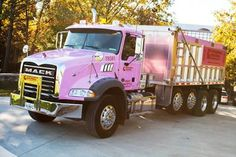 Mack Trucks Shows its Support of Breast Cancer Awareness Month with Display of Pink Mack Granite! Check it out at http://blog.nexttruckonline.com/truck-community/semi-truck-photos/mack-trucks-shows-its-support-of-breast-cancer-awareness-month-with-display-of-pink-mack-granite/#