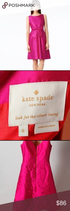 Kate Spade Jillian dress size 6 Previously loved silk blend dress. Has the signature Kate Spade bow in front. kate spade Dresses Midi