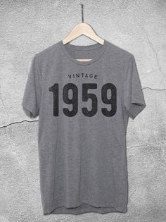 268e07bd 60th Birthday Vintage 1958 & 1959 T-Shirt - Hello Floyd Graphic Tees Gifts  For