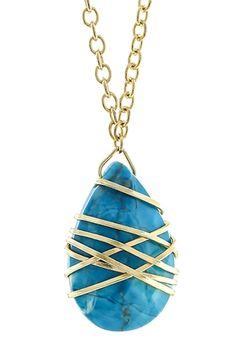 Hand Carved Turquoise Necklace from HauteLook on Catalog Spree