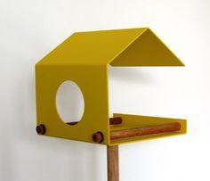 Gelbes Vogelhaus // yellow bird hous by art4life via dawanda.com