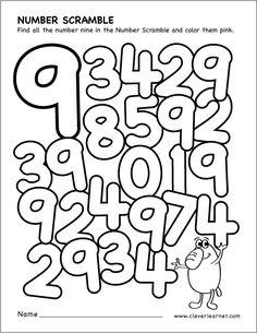 Number scramble activity worksheet for number 4 for preschool children Preschool Number Worksheets, Numbers Preschool, Learning Numbers, Math Numbers, Math Classroom, Kindergarten Worksheets, Math Activities, Preschool Activities, Maths