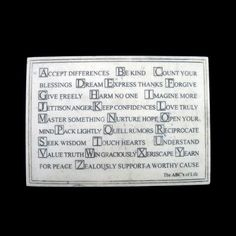 ABCs of Life Faux Marble Standup or Wall Plaque *** To view further for this item, visit the image link.-It is an affiliate link to Amazon. #Plaques