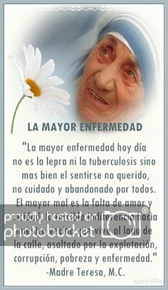 gif photo by oOoestrellitamiaoOo Mother Teresa Quotes, Mother Quotes, Marriage Thoughts, Positive Phrases, Gabriel Garcia Marquez, Catholic Prayers, Blessed Mother, Spanish Quotes, Dear God