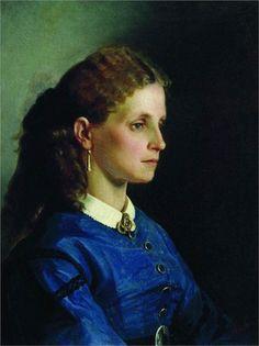 Portrait of Yanitskaya, 1865  Ilya Repin
