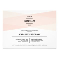 Modern Chic | Graduation Invitation