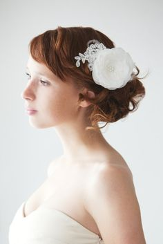 Lacy Dreams - Bridal Hair piece - Made to Order
