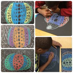 Yayoi Kusama Art lesson // decorative pumpkins // lines and patterns // special Ed lesson // fall art lesson
