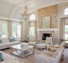 2014 Tour of Remodeled Homes - traditional - Living Room - Other Metro - Greensboro Builders Association Cozy Living Rooms, Living Room Decor, Kitchen Family Rooms, Home Decor Online, Sofa, Home Interior, Modern Interior, Traditional House, Interiores Design