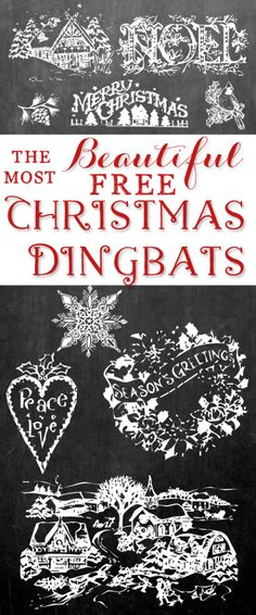 The Most Beautiful Free Christmas Dingbat Fonts