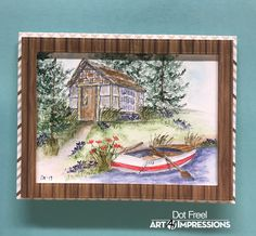 Art Impressions Cards, Colorful Art, Dots Art, Ink Art, Watercolor Stamps, Art, Watercolor Sketch, Painting Crafts, Art Pictures