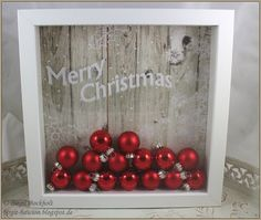 Ribba-Rahmen die Nice idea for Christmas picture with IKEA frame, balls, christmas Christmas Box Frames, Cozy Christmas, Christmas Colors, Christmas Time, Christmas Decorations, Holiday Decor, Ikea Christmas, Christmas Wreaths, Marco Ikea