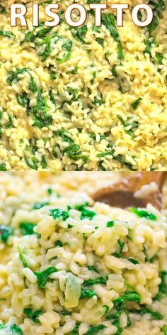 This Classic Spinach Risotto is a restaurant-worthy meal. It is rich, creamy, and so flavorful! Try this recipe today! Vegetarian Recipes, Cooking Recipes, Healthy Recipes, Vegetarian Protein, Spinach Risotto, Spinach Rice, Rice Side Dishes, Main Dishes, Rice Recipes For Dinner