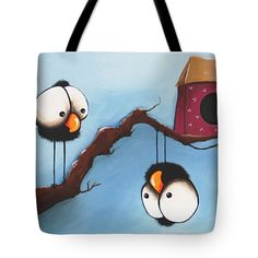 Whimsical Tote Bags by Lucia Stewart - The weird guy Tote Bag by Lucia Stewart