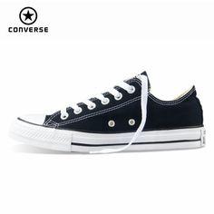 info for 478c4 ae622 30.34 49% de DESCUENTO Nuevo Original Converse all star zapatos de lona de  los hombres zapatillas de deporte para los hombres bajo Zapatos de Skate  clásico ...