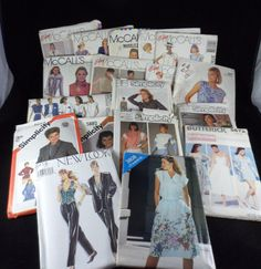 Vintage 1980's Sewing Pattern Lot Of 18 McCall's Simplicity Butterick UNCUT #McCalls